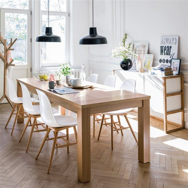 salle manger salle manger esprit scandinave en blanc et bois clair chaises jimi la redout. Black Bedroom Furniture Sets. Home Design Ideas