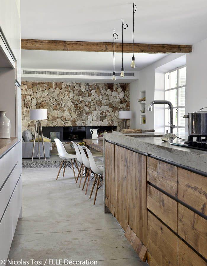 salle manger une cuisine esprit nature leading inspiration culture. Black Bedroom Furniture Sets. Home Design Ideas