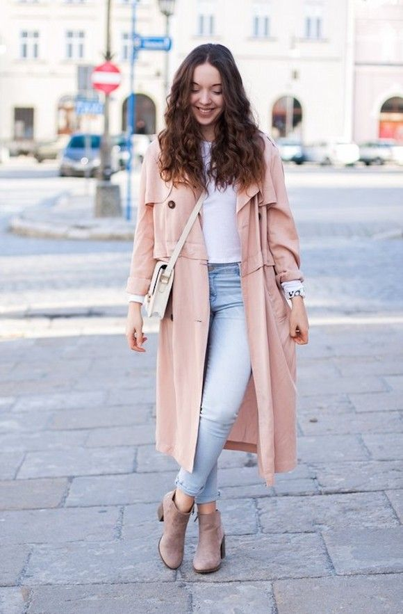 e4c609ee763600 Look Jean Idée Rose Poudré Chaussures Pswpvqx Tendance Trench 2017 ...