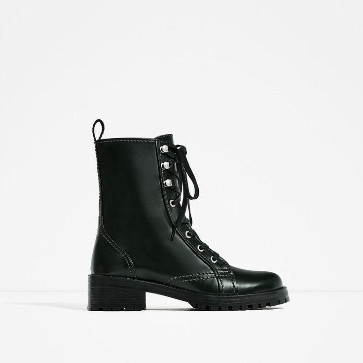 Military Tendance 2017 Zara Woman Ankle Chaussures Boots ulFJcTK13