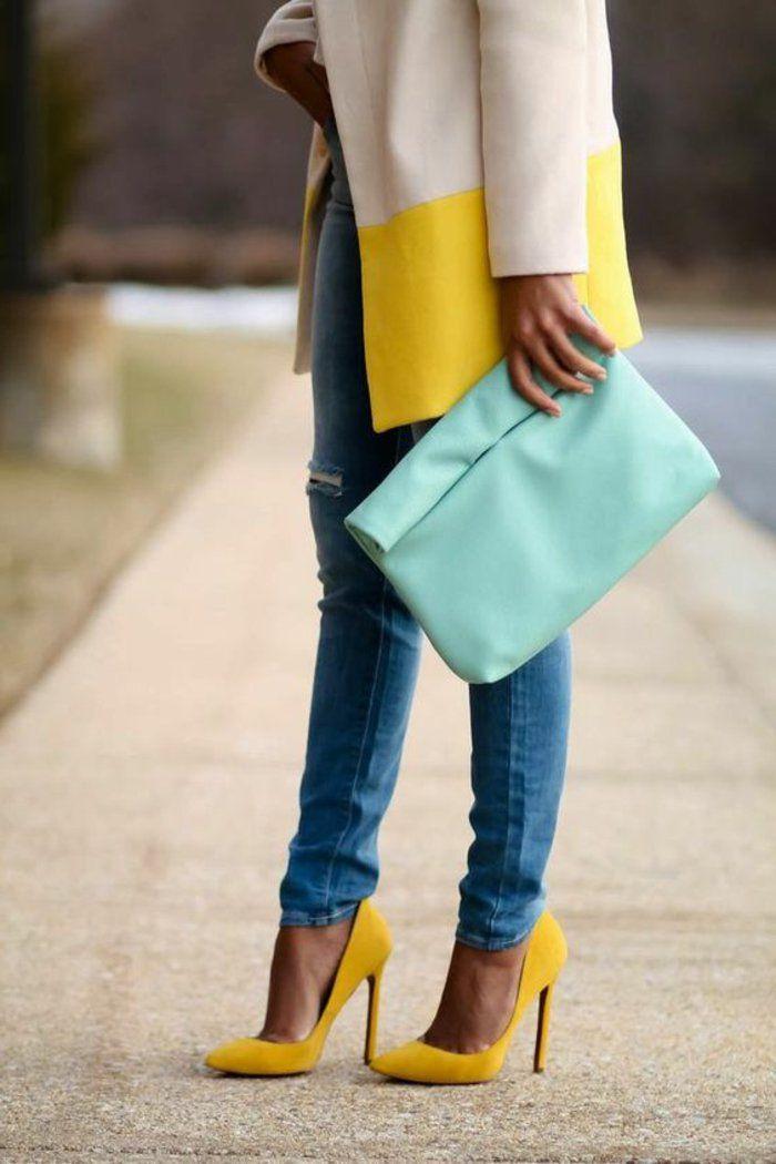 tendance chaussures 2017 quelle couleur avec le jaune un manteau en jaune et blanc et. Black Bedroom Furniture Sets. Home Design Ideas