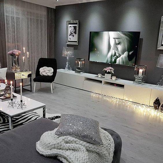 Idée Pour Mur Du Salon (couleur Et Mobilier