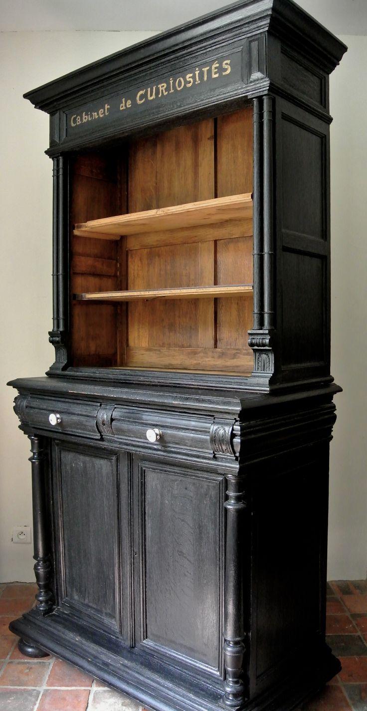 D co salon cabinet de curiosit s relooking par le meuble du photographe - Meuble peint ancien ...