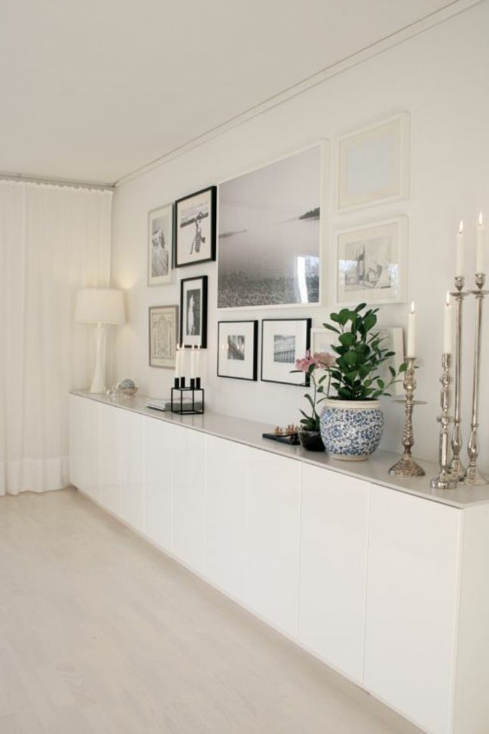 D co salon meuble chaussure ikea blanc dans le couloir for Meuble de salon buffet