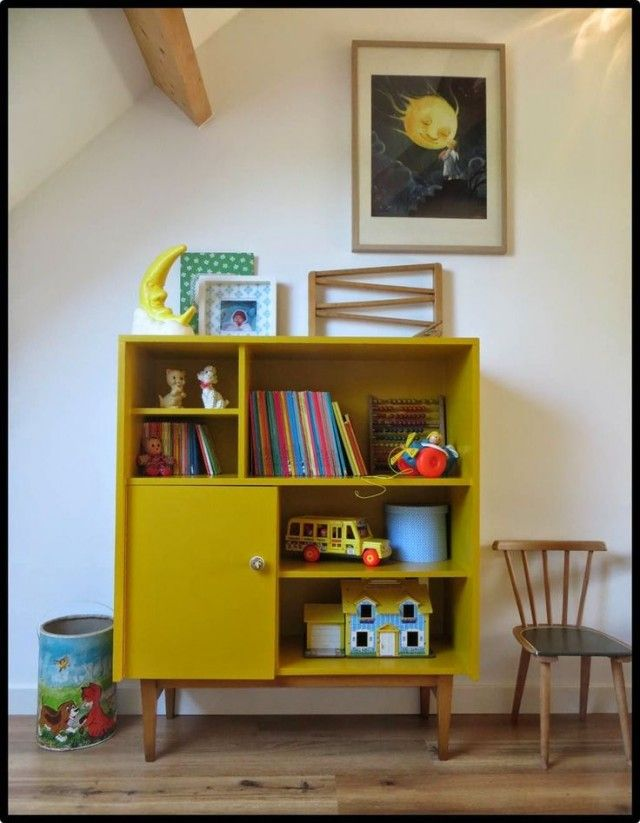 D co salon petit meuble jaune moutarde deco listspirit for Petit meuble salon