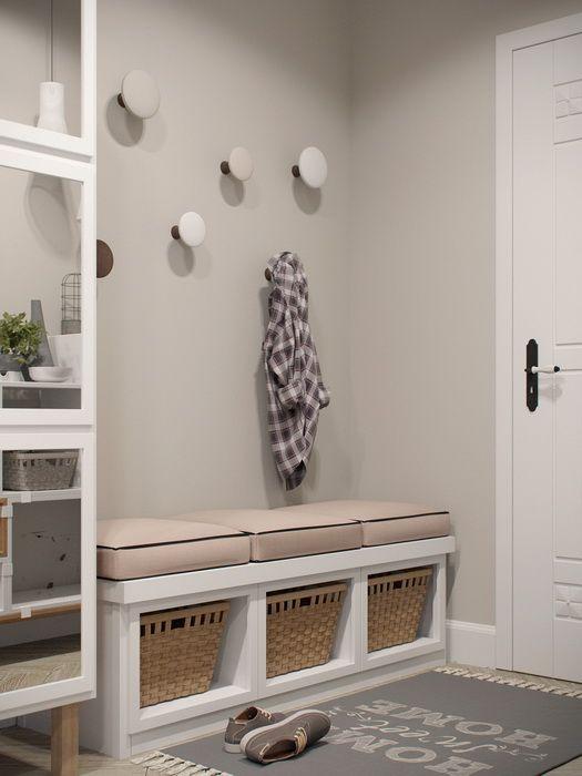 Deco Salon Touches De Bois Dans Un Interieur Blanc Et Gris
