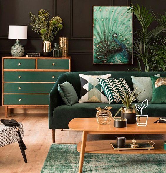 decoration interieur vert