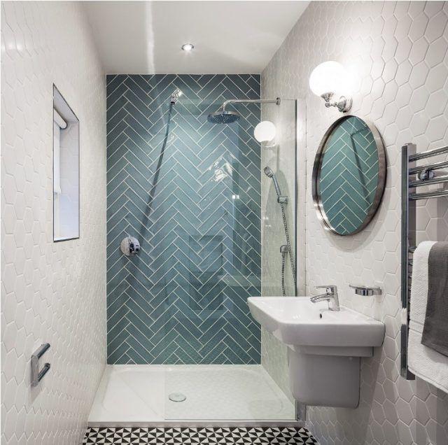 Id e d coration salle de bain am nagement petite salle for Idee deco salle de bain bleu