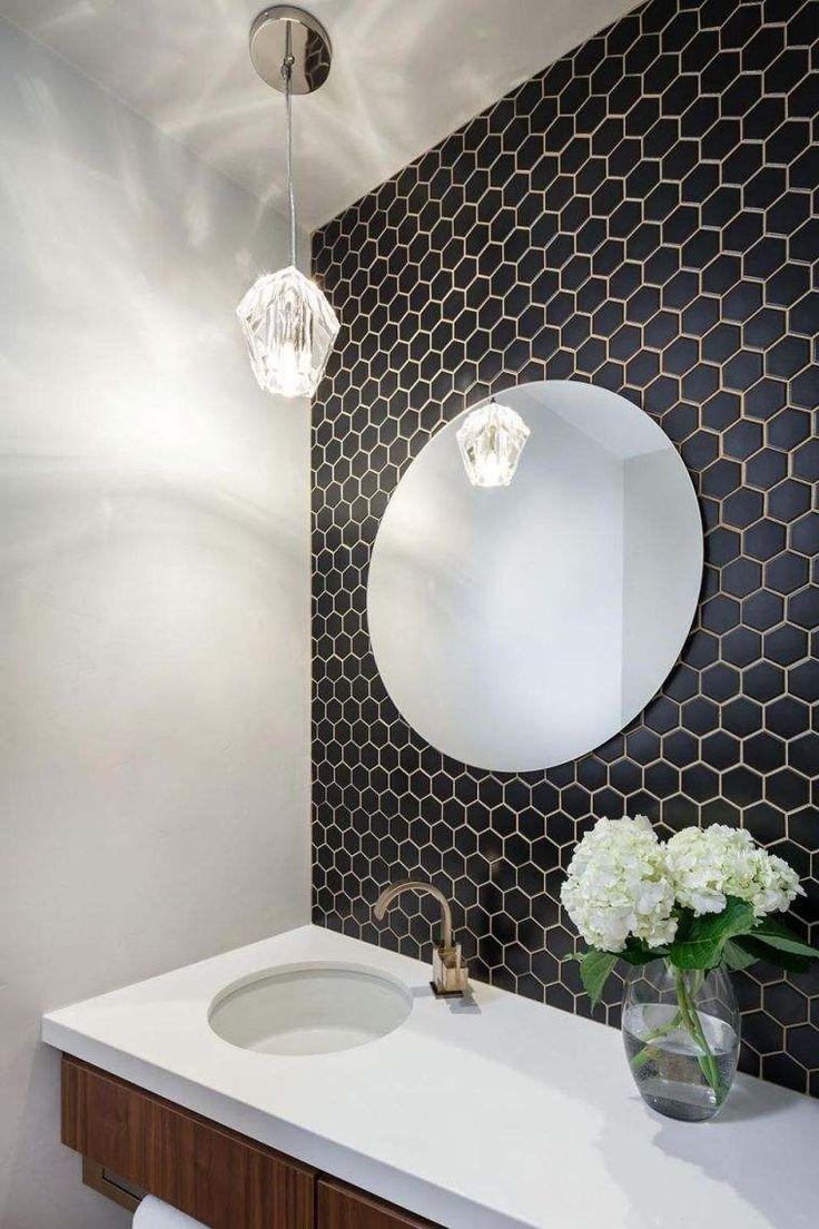 Nouvelle Tendance Faience Salle De Bain ~ id e d coration salle de bain carrelage hexagonal pour mur en noir