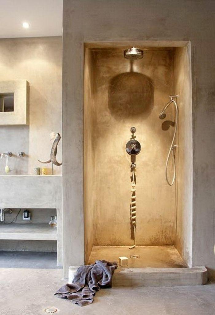 id e d coration salle de bain comment avoir la plus belle salle de bain avec beton cire sur le. Black Bedroom Furniture Sets. Home Design Ideas