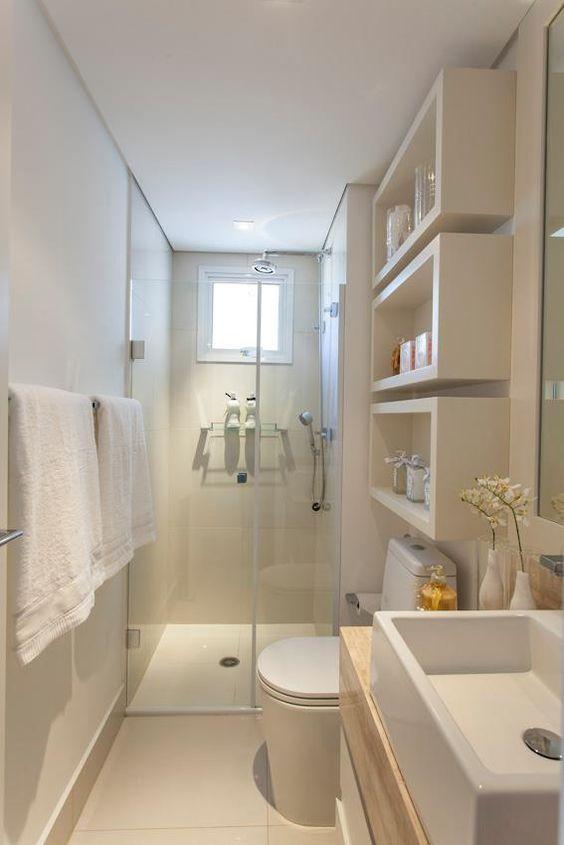 Idée décoration Salle de bain - Exemple d\'une petite salle de bain ...