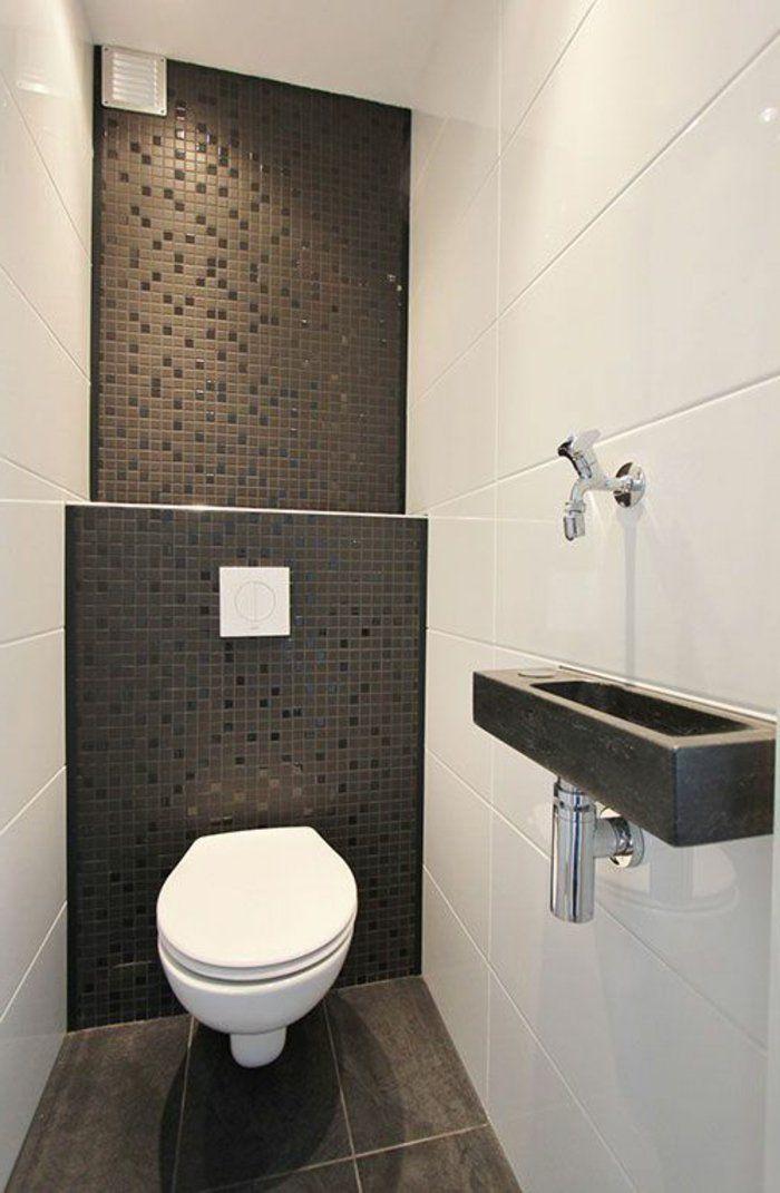 id e d coration salle de bain jolie salle de bain avec carrelage noir pour les murs amenager. Black Bedroom Furniture Sets. Home Design Ideas