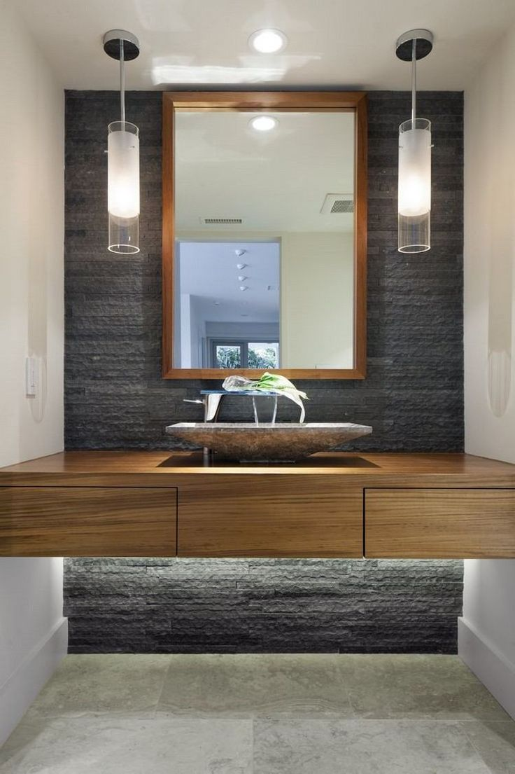 Idée décoration Salle de bain - luminaire salle de bains plan vasque ...