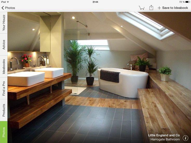 id e d coration salle de bain magnifique l 39 association du bois et du carrelage listspirit. Black Bedroom Furniture Sets. Home Design Ideas