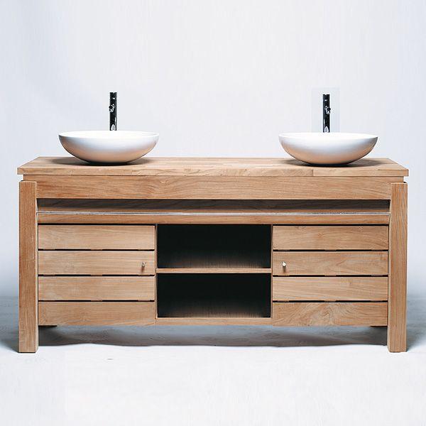 id e d coration salle de bain meuble de salle de bain une porte en teck brut massif pouvant. Black Bedroom Furniture Sets. Home Design Ideas