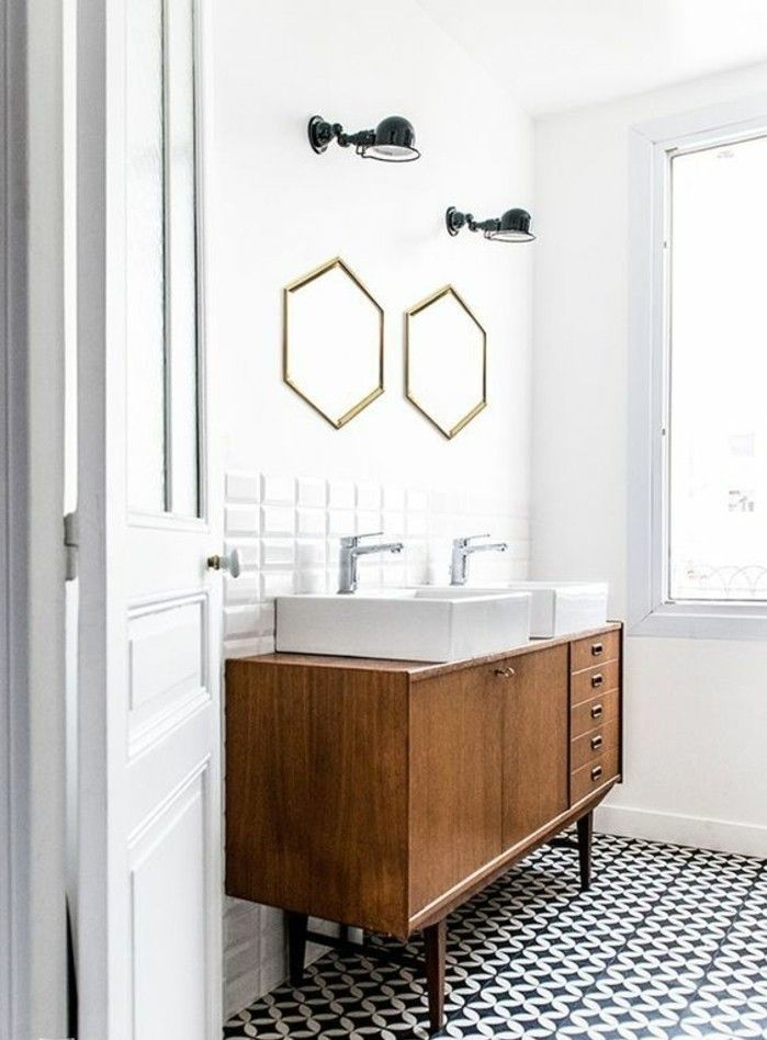 Id e d coration salle de bain meuble recup dans la salle for Idee deco meuble salle de bain