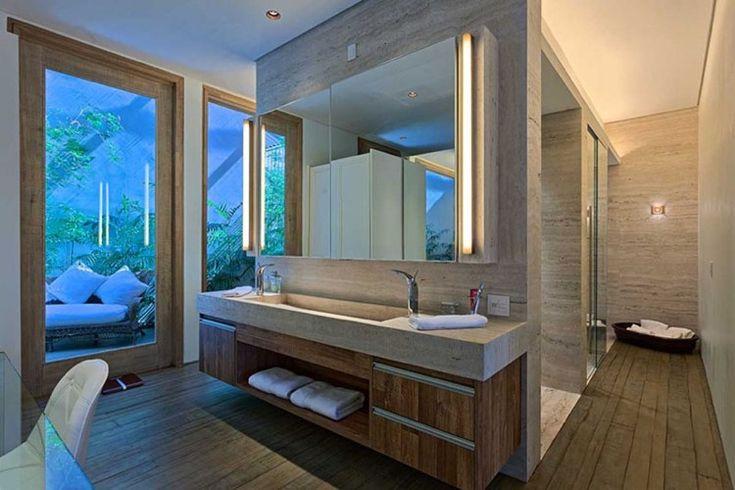 id e d coration salle de bain meuble sous lavabo salle de bain bois massif plan vasque pierre. Black Bedroom Furniture Sets. Home Design Ideas