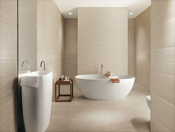 Id e d coration salle de bain salle de bain moderne avec - Idee carrelage salle de bain moderne ...
