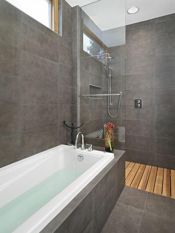 id e d coration salle de bain salle de bains grise une salle de bains moderne et l gante. Black Bedroom Furniture Sets. Home Design Ideas