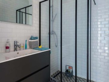 Id e d coration salle de bain form meets function in an for Carrelage fn
