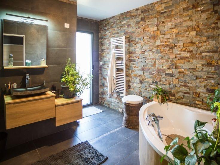 id e d coration salle de bain salles de bains styles et tendances parement pierre et. Black Bedroom Furniture Sets. Home Design Ideas