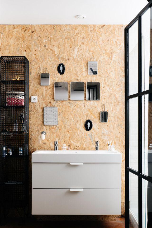 id e d coration salle de bain une salle d 39 eau brute qui n 39 oublie pas d 39 tre confortable. Black Bedroom Furniture Sets. Home Design Ideas