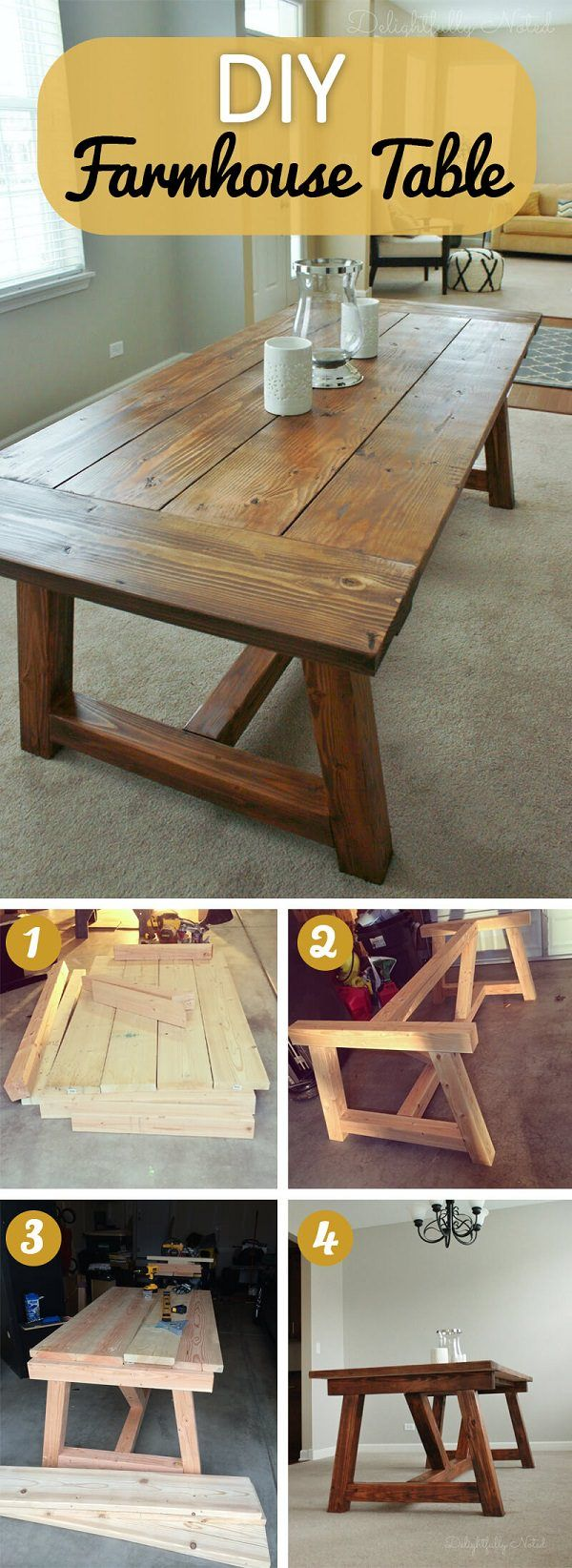 17 Diy Rustic Home Decor Ideas For Living Room: 17 Rustic DIY Farmhouse Table Ideas To