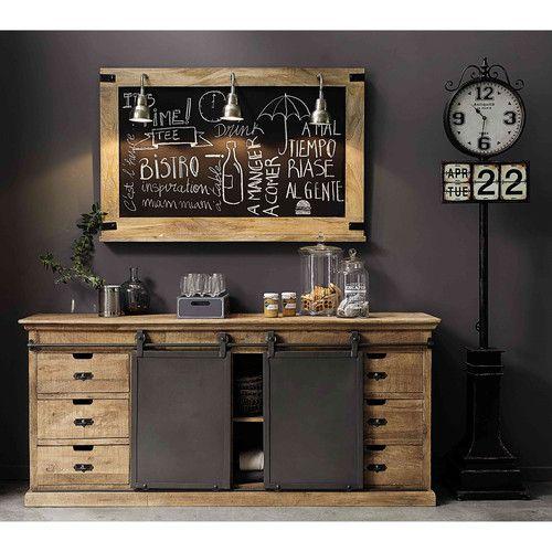 salle manger buffet en manguier massif l 190 cm leading inspiration. Black Bedroom Furniture Sets. Home Design Ideas