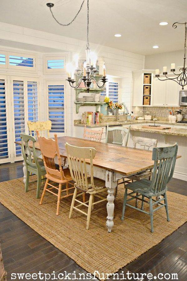 salle manger fantistic diy shabby chic furniture ideas tutorials. Black Bedroom Furniture Sets. Home Design Ideas