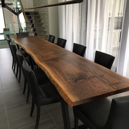 Salle 224 Manger Live Edge Black Walnut 12ft Dining Table