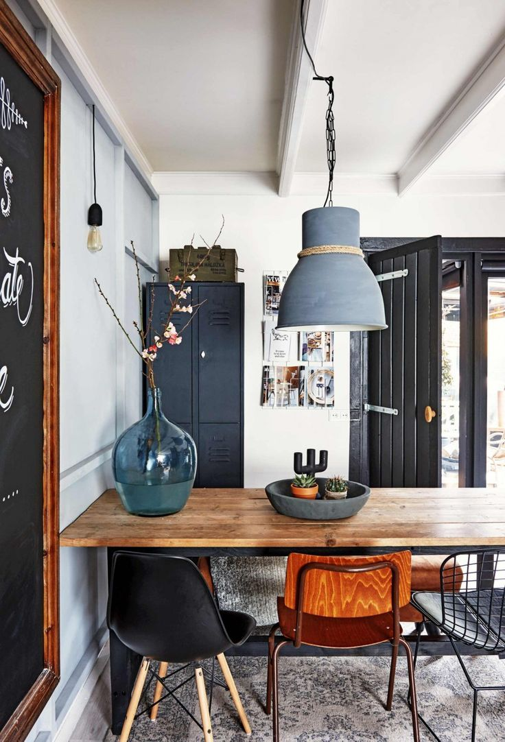 Description Modern Rustic Dining Room Design With Industrial