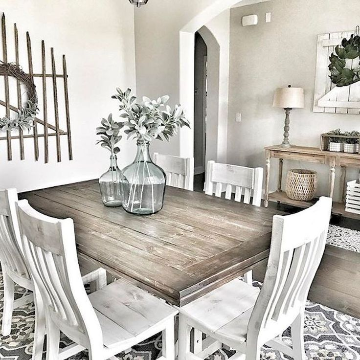 Description Rustic Farmhouse Dining Room Furniture And Decor Ideas