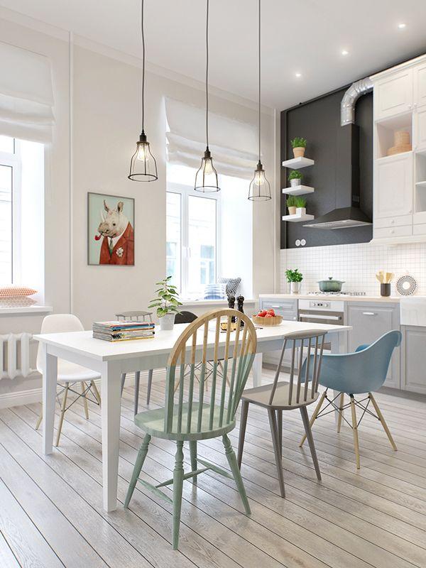 Salle à manger - Style scandinave à St Petersbourg - ListSpirit.com ...