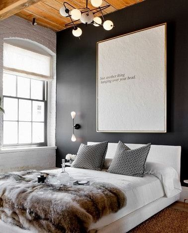 D co salon une chambre cocooning moderne gris anthracite et blanc - Salon cocooning gris ...