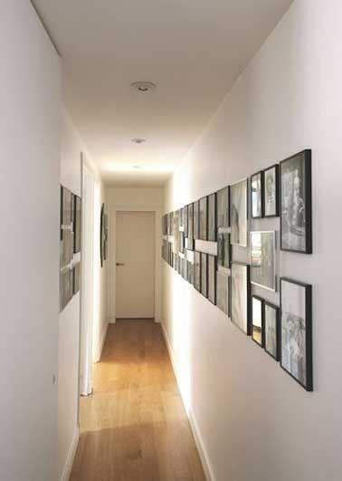 Déco Salon - Des cadres photos font la déco du couloir - ListSpirit ...