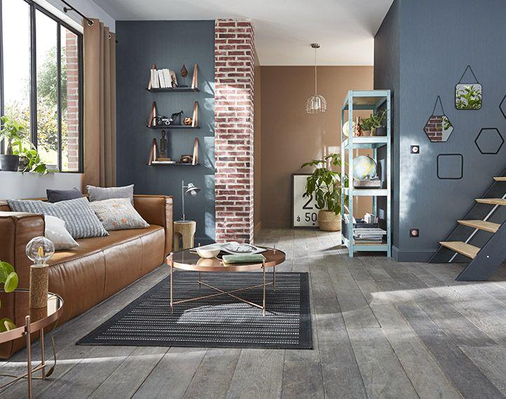 D co salon fra cheur et lumi re pour ce salon scandinave aux couleurs sorbet r hauss d - Tendance peinture salon ...