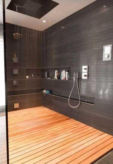 Idee Decoration Salle De Bain Carrelage Gris Anthracite Et