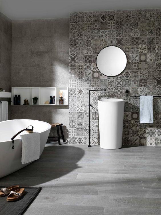Idée décoration Salle de bain - Des salles de bain de gris ...