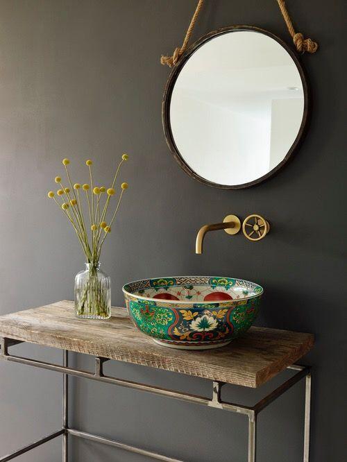 Id e d coration salle de bain vier et accessoires en - Idee deco pour petite salle de bain ...