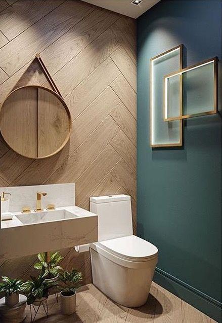 Id e d coration salle de bain lavabo chic mur et sol bois identique leading - Deboucher lavabo salle de bain ...