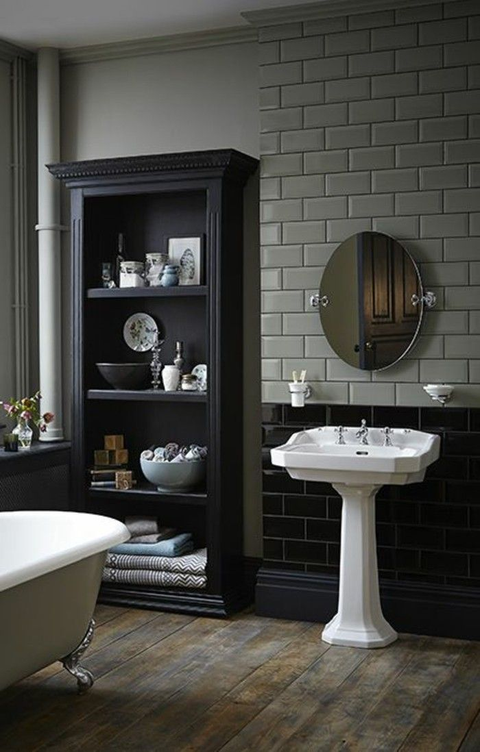 awesome salle de bain retro blanche images amazing house design. Black Bedroom Furniture Sets. Home Design Ideas