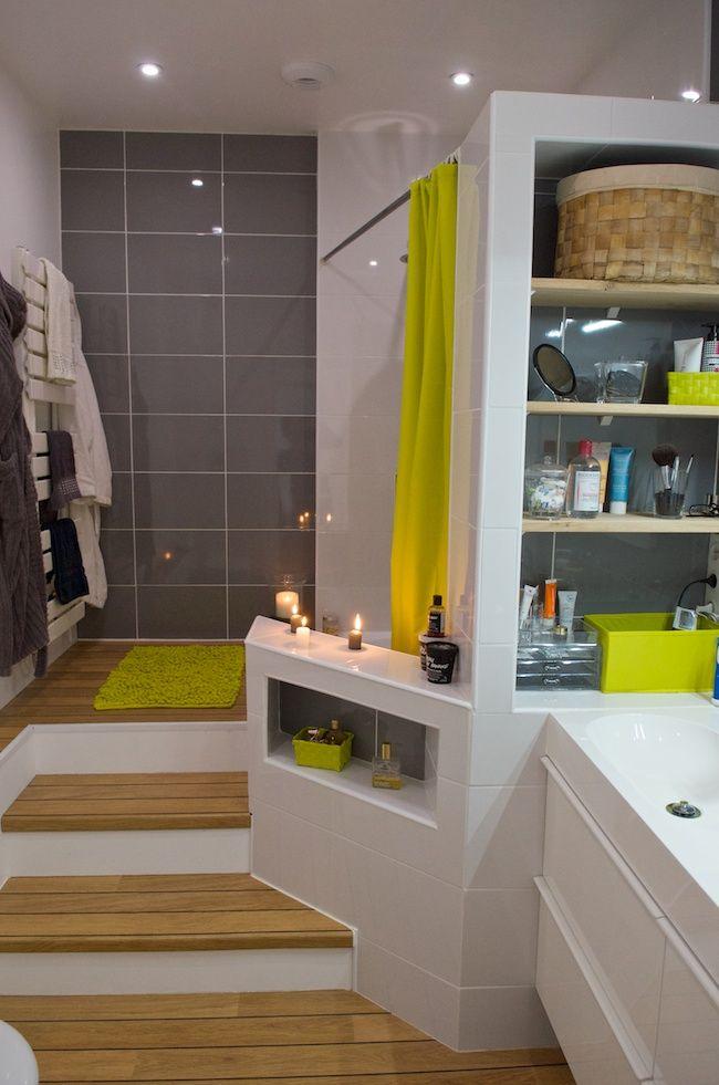 id e d coration salle de bain pour un gain d 39 espace dans la salle de bain une estrade avec. Black Bedroom Furniture Sets. Home Design Ideas