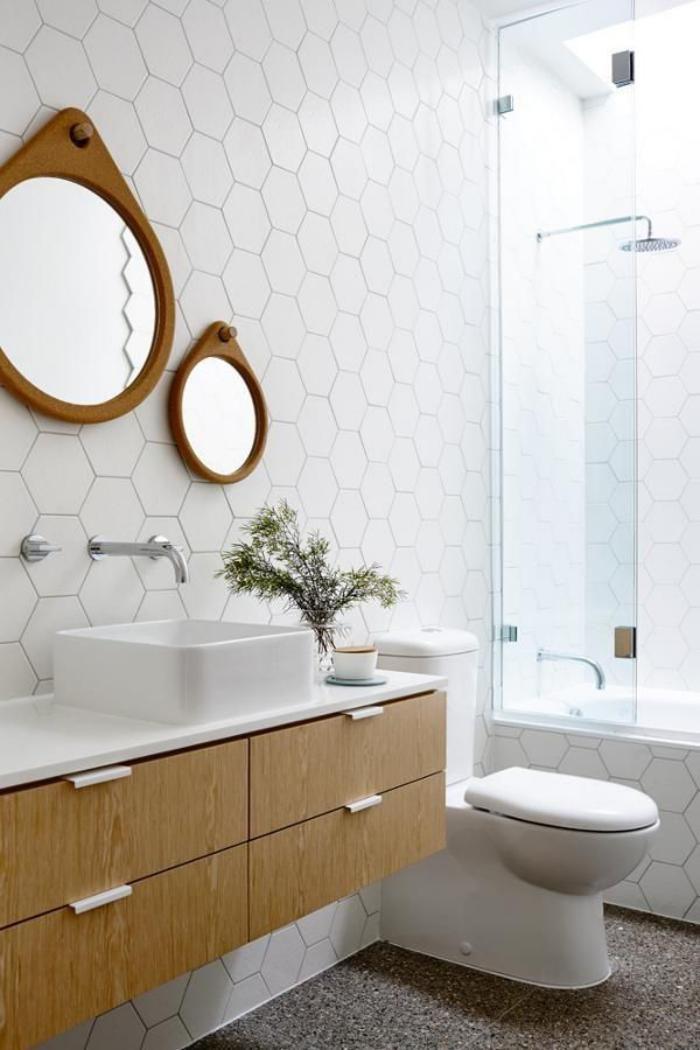 Id e d coration salle de bain robinet mural carrelage for Decoration mural salle de bain
