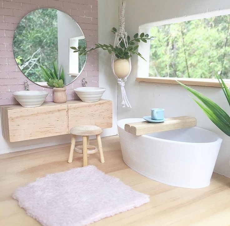 id e d coration salle de bain salle de bain bois blanc pastel pur e style scandinave. Black Bedroom Furniture Sets. Home Design Ideas