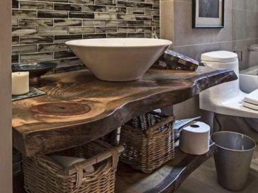 Id e d coration salle de bain iheart organizing mn showcase home tour love the floor - Plan vasque bois salle de bain ...