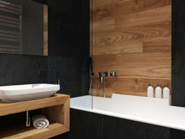 id e d coration salle de bain bathroom tile idea install 3d tiles to add texture to your. Black Bedroom Furniture Sets. Home Design Ideas