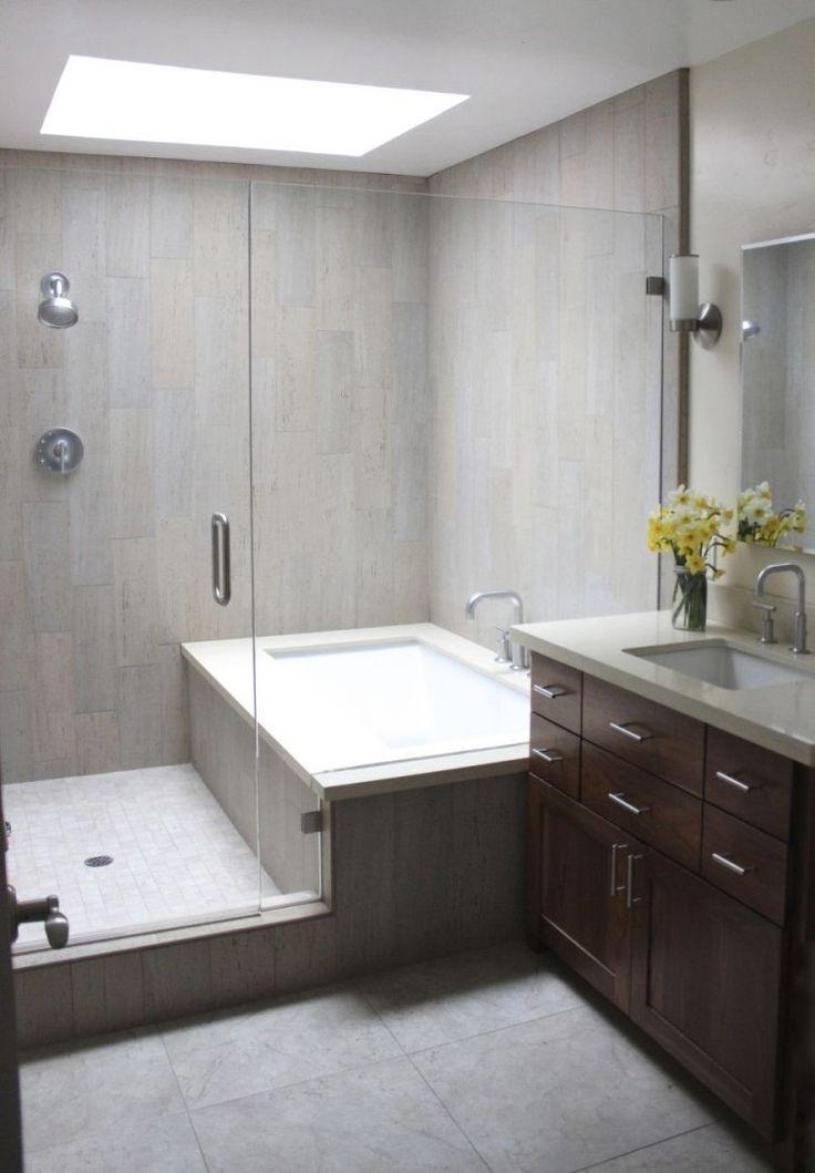 Idée décoration Salle de bain - tablier de baignoire, carrelage gris ...