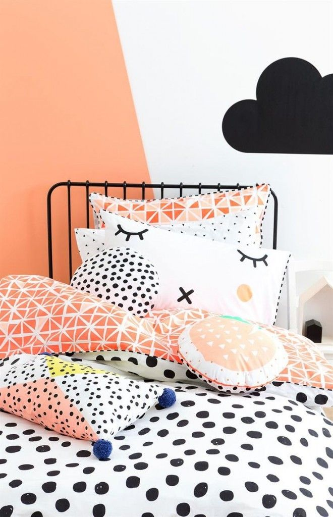 Description. Chambre Enfant Bebe Orange Noir ...