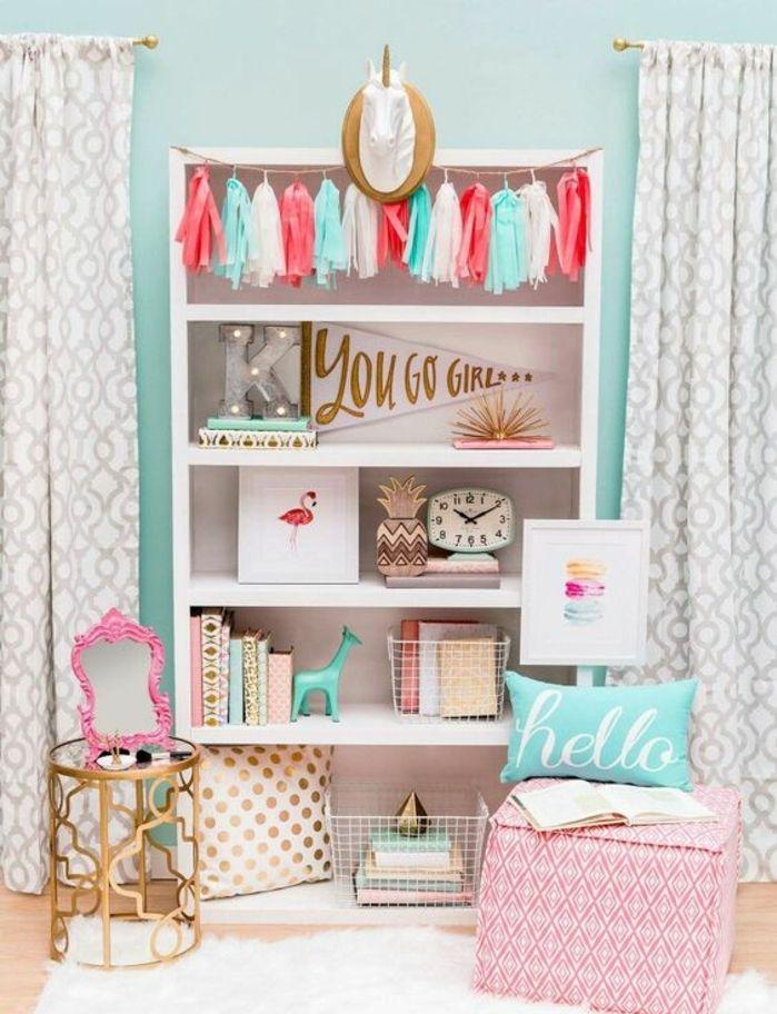 Relooking et d coration 2017 2018 d co chambre ado en bleu et rose d co de chambre tr s - Relooking chambre ado fille ...