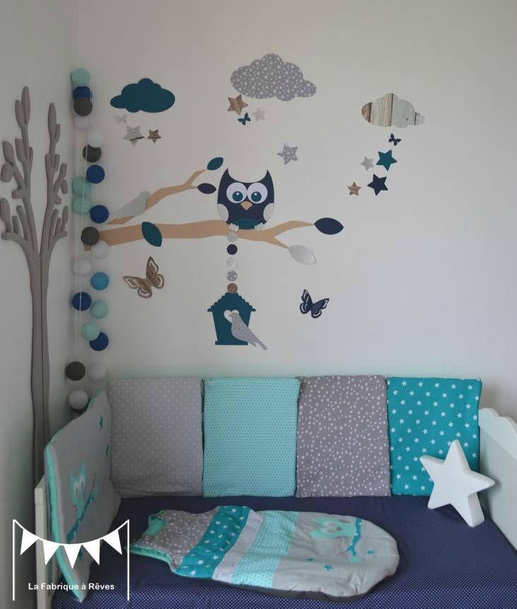 Relooking et décoration 2017 / 2018 - idée déco hibou chambre bebe ...
